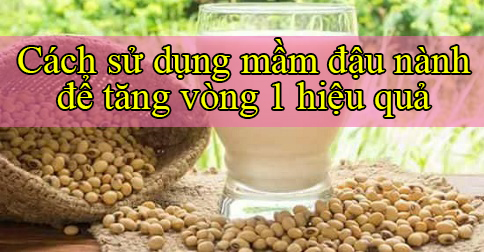 Cách uống mầm đậu nành để tăng vòng 1 như thế nào để hô biến vòng 1 tăng 10cm trong 1 tháng